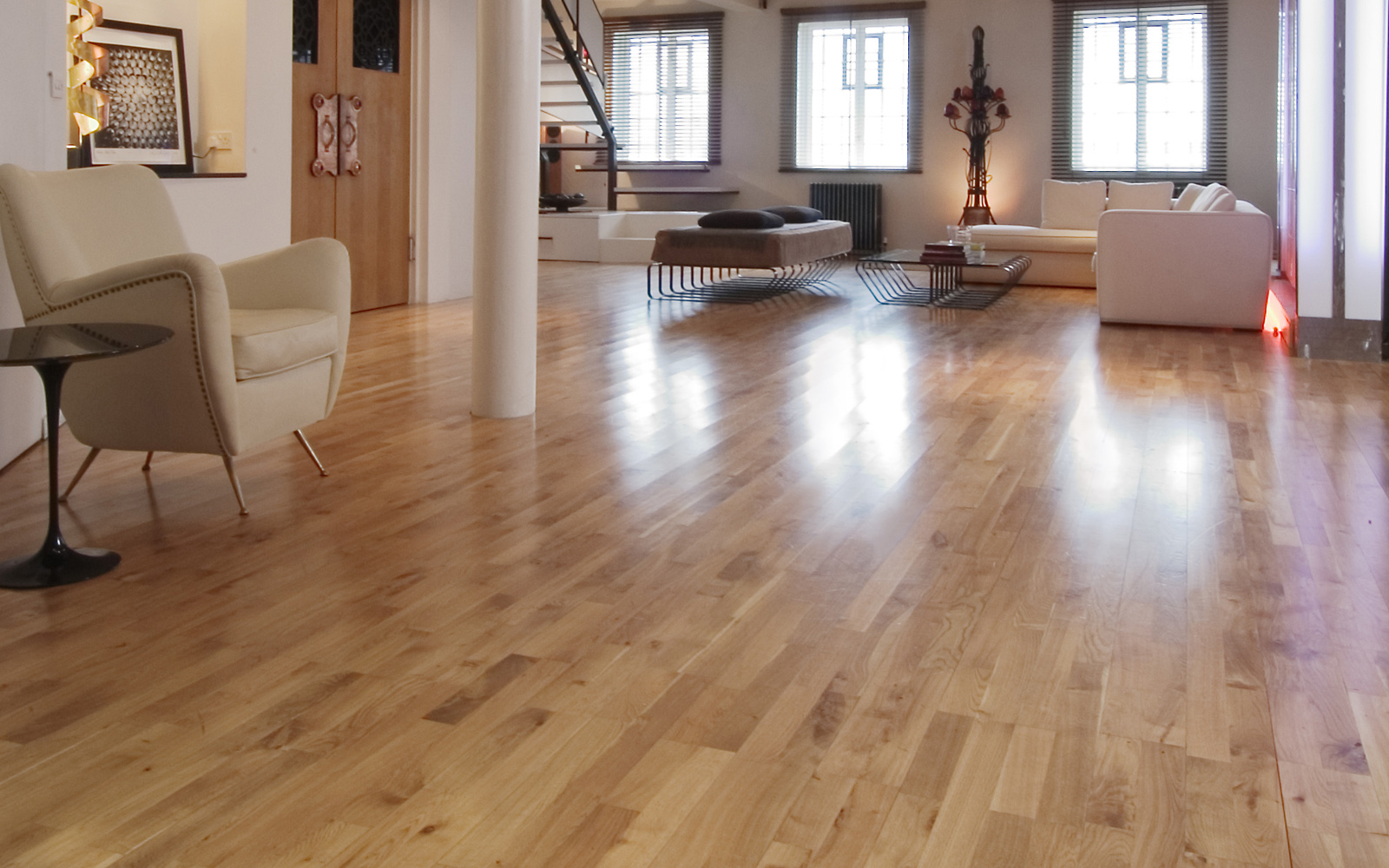Hamptons 129mm Commercial Grade Solid Oak Nature Matt Varnished Wood Floor