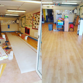 Commercial Laminate Flooring for Classroom