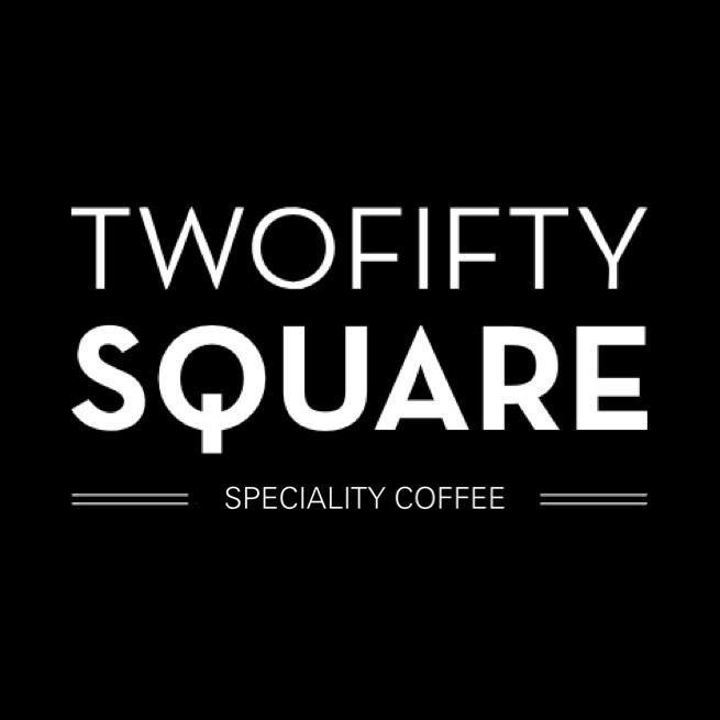 two fifty square coffee logo